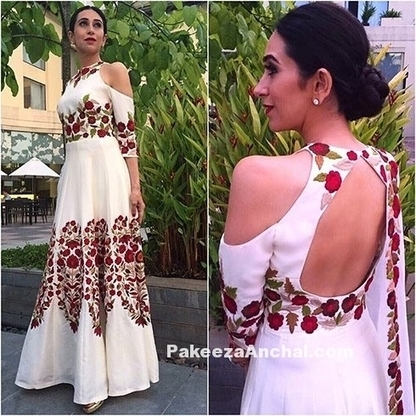 Karishma Kapoor in Manish Malhotra's Floral Design Backless Gown | Indian Fashion Updates | Scoop.it