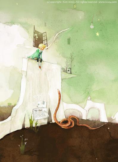 The Little Prince » Kim Min Ji's enchanting illustrations of The Little Prince | Illustrators, artists, photographers | Scoop.it