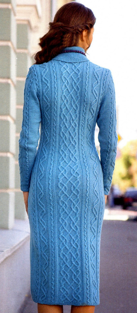 Free Knitting Patterns - Dress with Cable Pattern | Spinning, Weaving and Knitting | Scoop.it