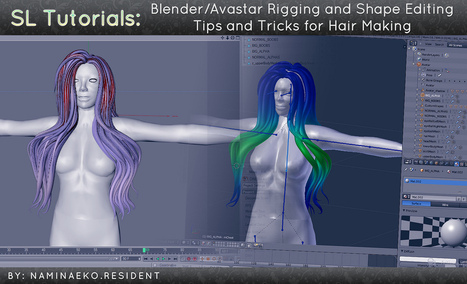 SL Tutorials: Blender Avastar Rigging and Shape Editing Tips and Tricks for Hair Making | Second Life | Scoop.it
