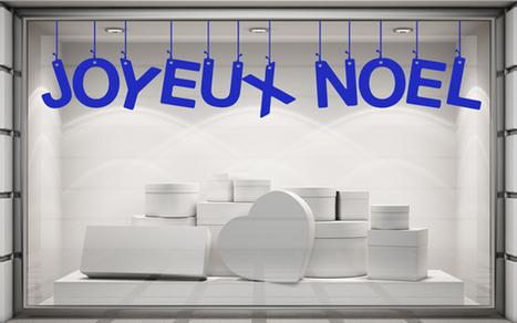 Sticker Noël - Joyeux Noël. Paris - Graphicarts | Lettrage adhésif et impression numérique | Scoop.it
