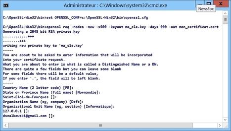 Créer un certificat auto-signé avec OpenSSL sous Windows | Informatique | Scoop.it
