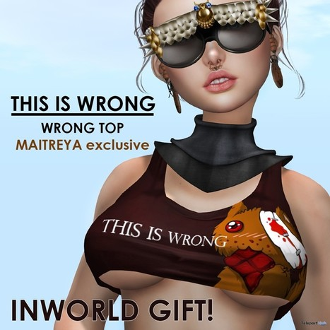 Wrong Top Exclusively For Maitreya Body Gift by THIS IS WRONG | Teleport Hub - Second Life Freebies | Second Life Freebies | Scoop.it