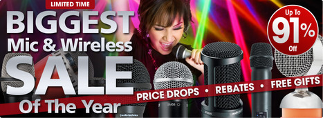 Biggest Mic & Wireless Sale of the Year! Up To 91% Off! | Wolf and Dulci Links | Scoop.it