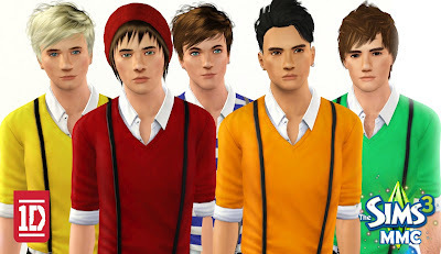 Sims 3 Male Models and Celebrities: One Direction - 1D | Directioner83 | Scoop.it
