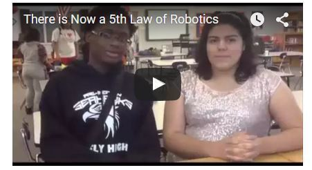 There is Now a 5th Law of Robotics | K12 Online Conference @drharrisonmccoy | Font Lust & Graphic Desires | Scoop.it