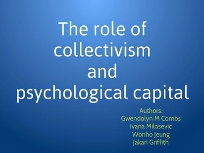 The role of collectivism and psychological capi... - Posts - Quora   Jakari-Griffith-Learning-Motivation and Transfer of Human Capital Development   Scoop.it