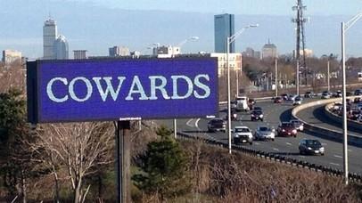'Cowards' Billboard Lights Up Boston Skyline in Wake of Blasts | Gov & Law Gov & Law | Scoop.it