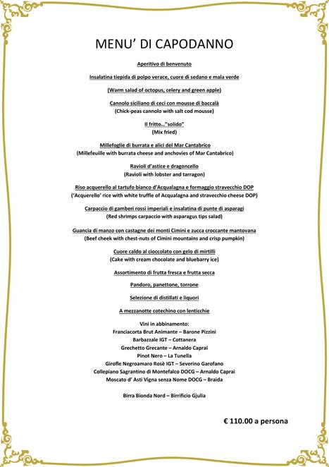 Gala Dinner New Year's Eve | Ristorante Roma | Scoop.it