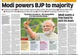 How the Indian newspapers headlined the Modi tsunami - Easy Media | Media | Scoop.it