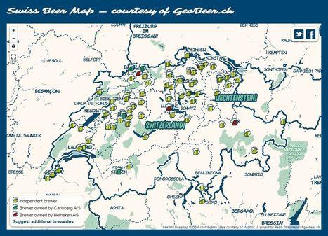 Swiss Beer Map | Cartes et Insolites | Scoop.it
