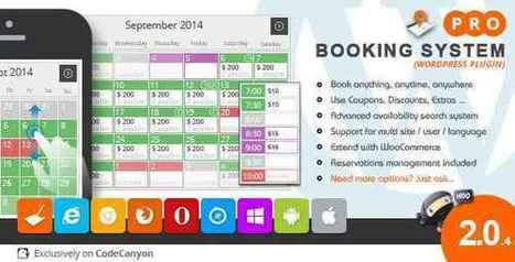 Free Download Booking System PRO v2.0.4 (WordPress Plugin) | Webdesign by Accesscloud Webdesigns | Scoop.it