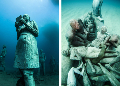 Hyperrealistic Human Sculptures Submerged in Europe's First Underwater Art Museum | IELTS, ESP, EAP and CALL | Scoop.it