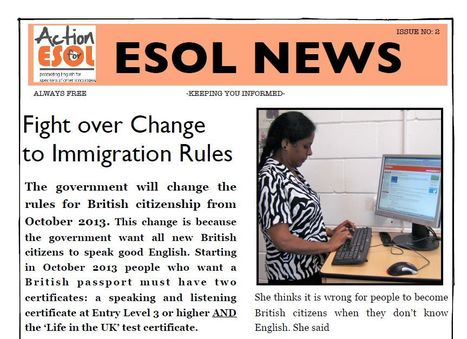 ESOL News Issue 2 | ELT Digest | Scoop.it