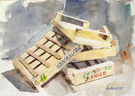 Watercolor in Provence » Blog Archive » Provence – fin du marché – end of the market | Sciences participatives, pratiques collaboratives | Scoop.it