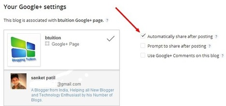 Google Announced Automatically Post Sharing to Default Google+ - Blogging Tuition | Social Media | Scoop.it
