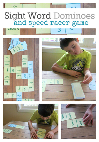 Sight Word Dominoes & Speed Racer Game   Sight Words teaching and Learning Games   Scoop.it