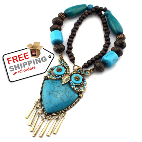 Necklaces Wood Chain Big Owl Pendants Exaggerated Bohemia Style Creative Fashion   VERY INTERESTING Cool Stuff   Scoop.it
