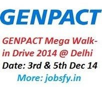 GENPACT Mega Walk-in Drive Backend Non-Voice Process at Delhi on 3-5 December 2014 « jobsfy | Latest Job Alerts | Scoop.it