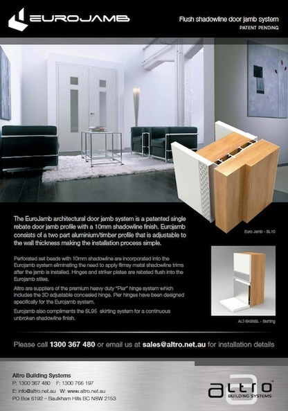 Euro Jamb Sliding System by Altro Building Systems | Altro Building Systems Sliding Door Products | Scoop.it