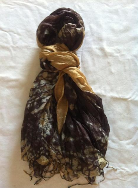 fair trade Cambodia. Pure soft silk scarf, ethically handwoven by disadvantaged home based weavers. www.craftworkscambodia.com | Natural Dyes Cotton Scarfs | Scoop.it