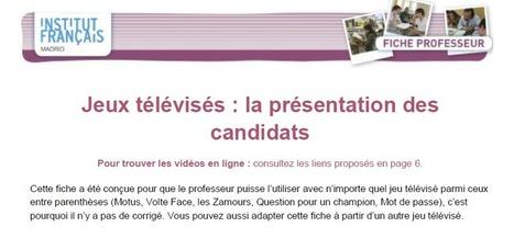 Apprendre avec les jeux télévisés (A1-B1) | Le blog des profs de l'Institut Français à Madrid | Conny - Français | Scoop.it