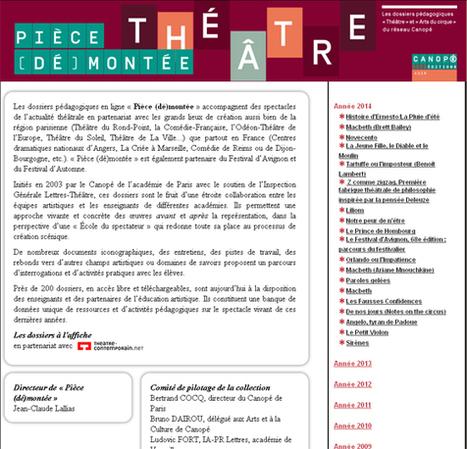 Pièces de théâtre : (dossier pédagogiques, ressources, exercices, outils numériques…) | | formation des enseignants | Scoop.it