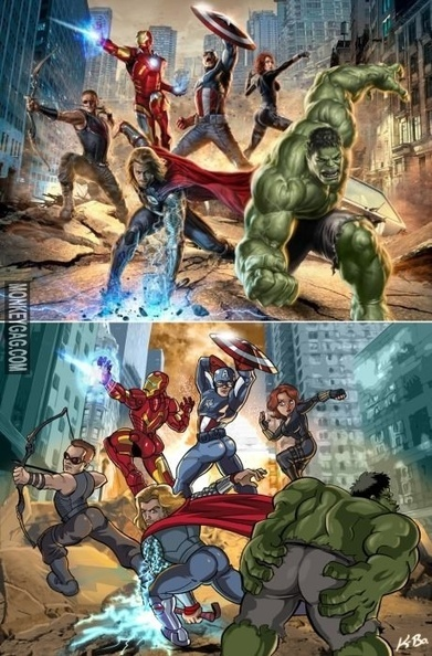 What If The Male Characters Posed Like The Female one. | Funny Images | Scoop.it