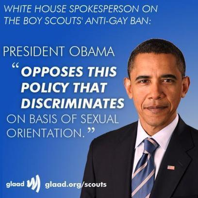 President Obama announces opposition Boy Scouts' ban on gay scouts and scout leaders | GLAAD | LGBT Times | Scoop.it