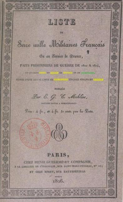 Gallica : Militaires Français entre 1810 et 1814 | Rhit Genealogie | Scoop.it