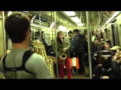 Sax Battle In NYC Subway PART 2 | TubePopular dot com | Funny and Viral Photos | Scoop.it