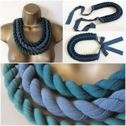 Recycled tights necklace | Recyclart | Erika Guerrero | Scoop.it
