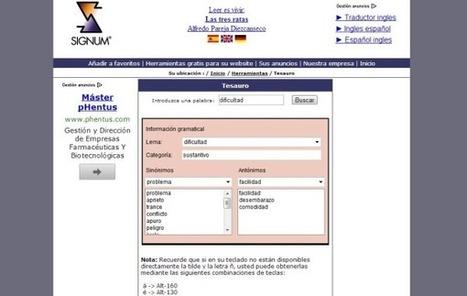 Diccionario de sinónimos y antónimos online gratuito | Aprendiendoaenseñar | Scoop.it
