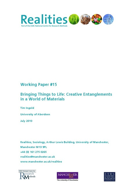 Bringing Things to Life - Creative Entanglements in a World of Materials.pdf | The 21st Century | Scoop.it