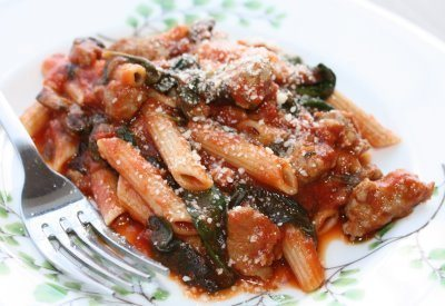 Recipe of the week: Penne with Chicken Sausage, Tomatoes &Spinach   My Real Food Family - Nutrition and Wellness   Scoop.it