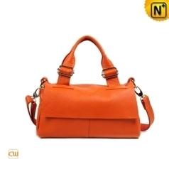 Orange Flap Leather Bag Women CW278315   Women leather bags   Scoop.it