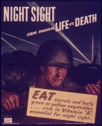 A WWII Propaganda Campaign Popularized the Myth That Carrots Help You See in the Dark | histoire | Scoop.it