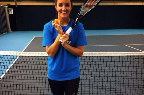 Laura Robson back hitting a tennis ball as she returns to training after recurrence of wrist injury | Laura Robson | Scoop.it