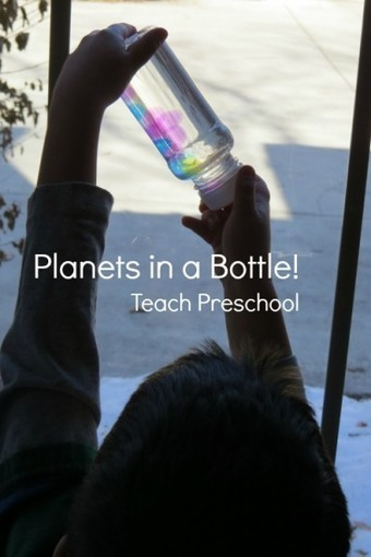 Planets in a bottle   Happy Days Learning Center - Resources & Ideas for Pre-School Lesson Planning   Scoop.it