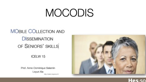 MOBILE COLLECTION AND DISSEMINATION OF SENIORS' SKILLS | eServices | Scoop.it