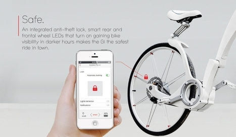 GiBike : un vélo pliable et connecté qui vous permet de recharger votre smartphone en pédalant | Vous avez dit Innovation ? | Scoop.it