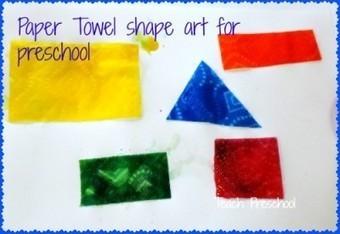 Paper towel shape art for preschoolers | Teach Preschool | Scoop.it