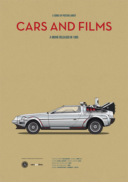 Cool Rides From Famous Films Illustrated With Style | Collecting About Design | Scoop.it