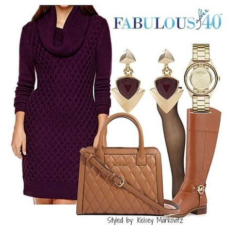 How To Style a Sweaterdress - An Easy Recipe | Fabulous After 40 | Fashion for Women | Scoop.it