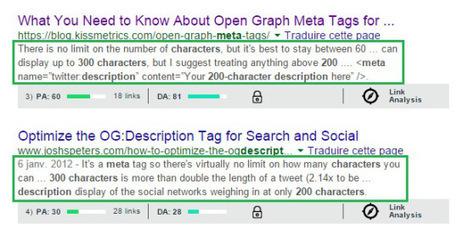 Google affiche entre 200 à 300 caractères pour la méta description #SEO | Référencement - Conseils d'optimisation SEO Pole Position Seo | Scoop.it