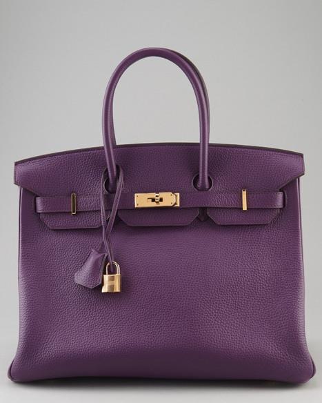 Get an awesome Hermes Ultra Violet Togo Leather Birkin handbag only for $19,999 for limited time | fashion deals | Scoop.it