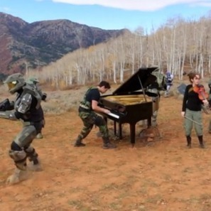 Two Halo Fans Play Classical Instruments During a Firefight - The Escapist | Songs in Piano | Scoop.it