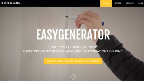 Easygenerator Plus. Créer et diffuser vos supports de formation en mode collaboratif | Time to Learn | Scoop.it