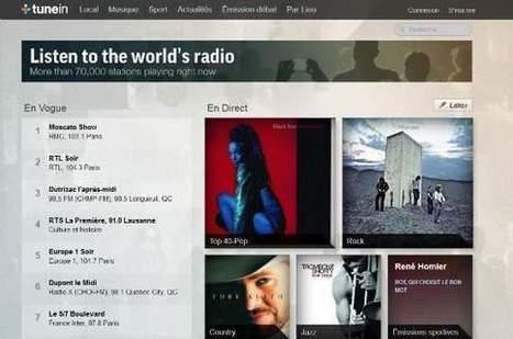 TuneIn, le service de «streaming» qui mise sur les radios, Tech-médias | Musique et Innovation | Scoop.it