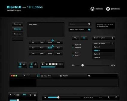 65+ Free Flat PSD GUI Interface Kits Sets | Designrazzi | Premium WordPress Themes Download | Scoop.it